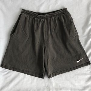 Vintage Nike Swoosh 90's USA Made Gym Shorts L